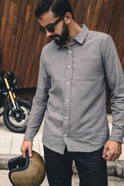 Buy the ridgemont long sleeve riding shirt grey online at Moto Est. Australia 7