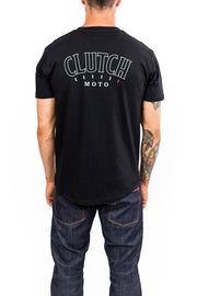 Clutch Moto Club Tee in Black online at Moto Est. Australia