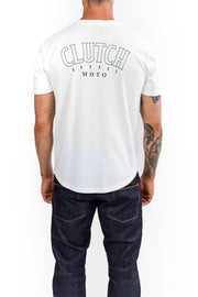Clutch Moto Club Tee in White online at Moto Est. Australia