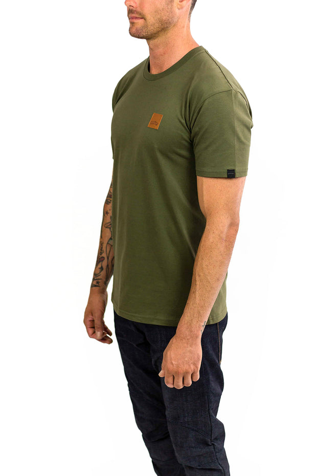 Buy the clutch moto icon tee army green online at Moto Est. Australia 3