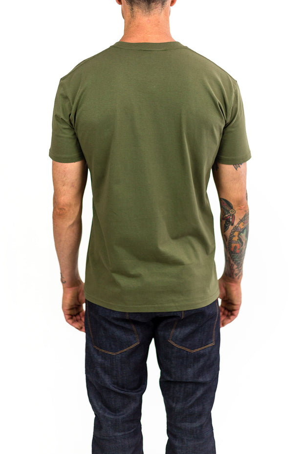 Buy the clutch moto icon tee army green online at Moto Est. Australia