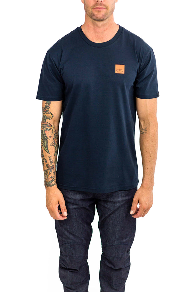 Clutch Moto Icon Tee in Navy online at Moto Est. Australia