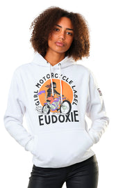 eudoxie white hoodie for women