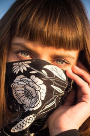 Buy the Eudoxie  Thelma Black Cotton Bandana Moto Est