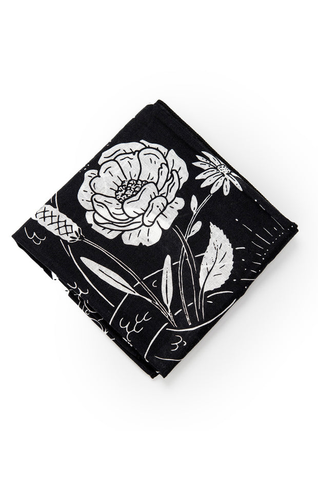 Eudoxie  Thelma Black Cotton Bandana