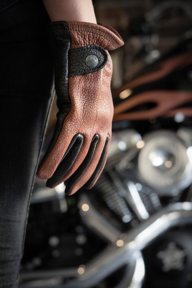 Grifter Company  Gauchos Leather Motorcycle Gloves harley