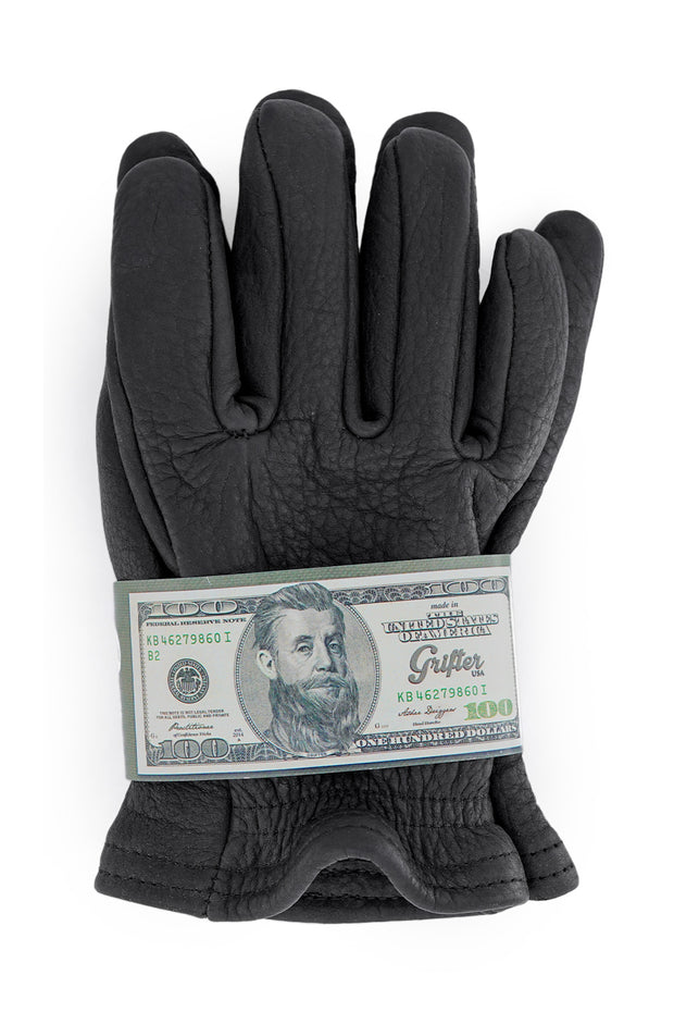 Buy the grifter scoundrel wool lined motorcycle gloves black online at Moto Est. Australia 4