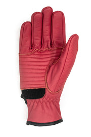 Signet Red Speed motorcycle gloves by 78 Motor Co. online at Moto Est Australia - front