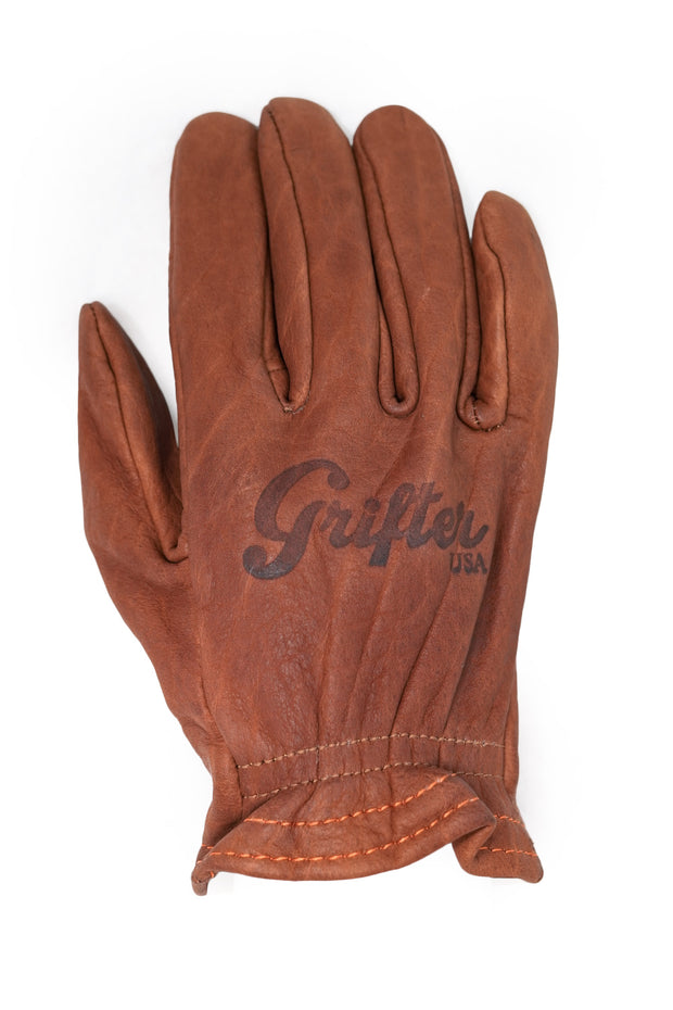 Grifter Company Scoundrel Motorcycle Gloves in Brown online at Moto Est. Australia