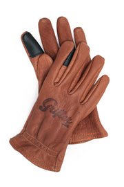 Buy the grifter scoundrel touchscreen motorcycle gloves brown online at Moto Est. Australia 4
