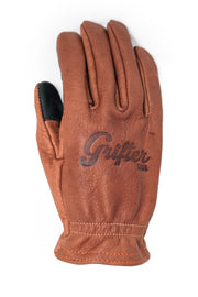 Grifter Company Scoundrel Touchscreen Motorcycle Gloves in Brown online at Moto Est. Australia