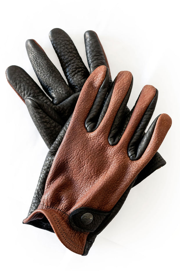 Grifter Company Gauchos Leather Motorcycle Gloves