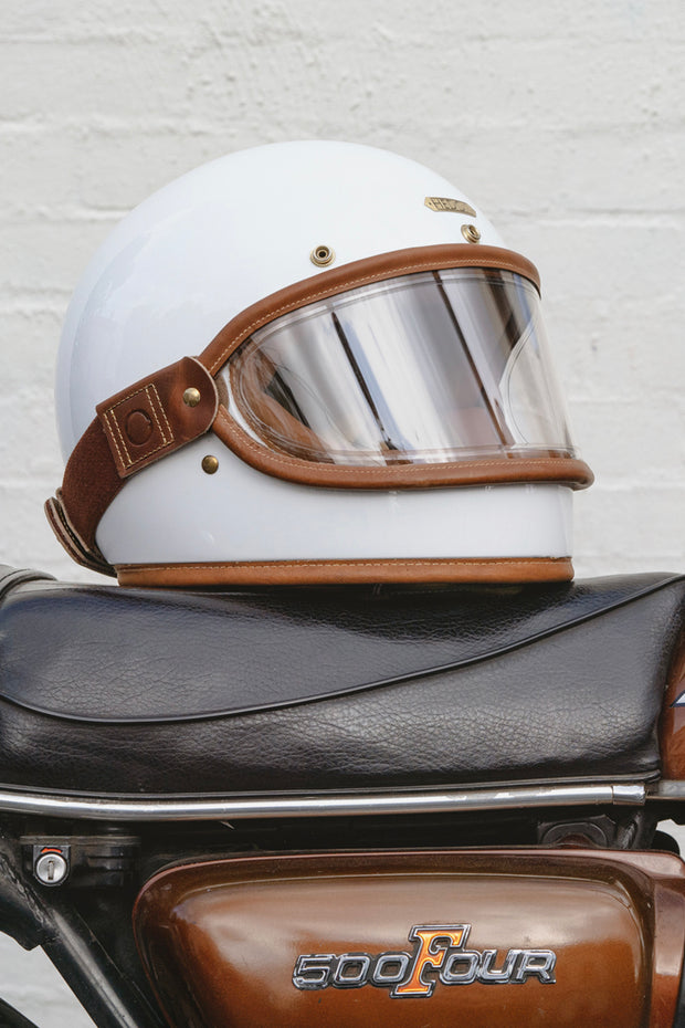 Buy the Hedon Classic Brown Goggle Visor at Moto Est. Melbourne Australia