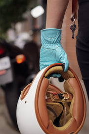 Black Arrow Moto Gear  Queen Bee Women's Turquoise Blue Leather Motorcycle Gloves in Melbourne Australia
