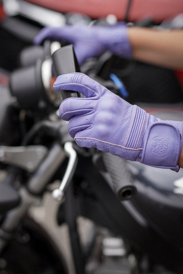 Black Arrow Moto Gear  Queen Bee Women's Lilac Leather Motorcycle Gloves Melbourne, Australia