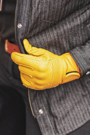 Black Arrow Moto Gear  Queen Bee Women's Saffron Yellow Leather Motorcycle Gloves in Melbourne, Australia