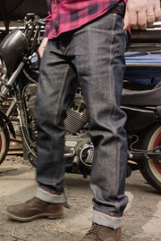 Tobacco raw denim kevlar motorcycle jeans in Melbourne, Australia