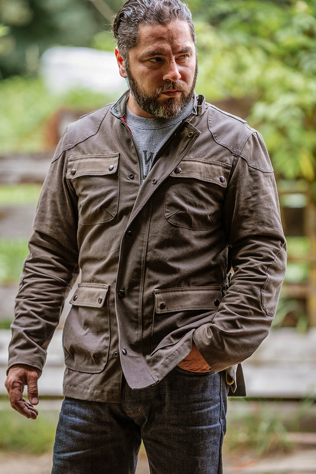 McCoy Men's Brown Waxed Cotton Jacket