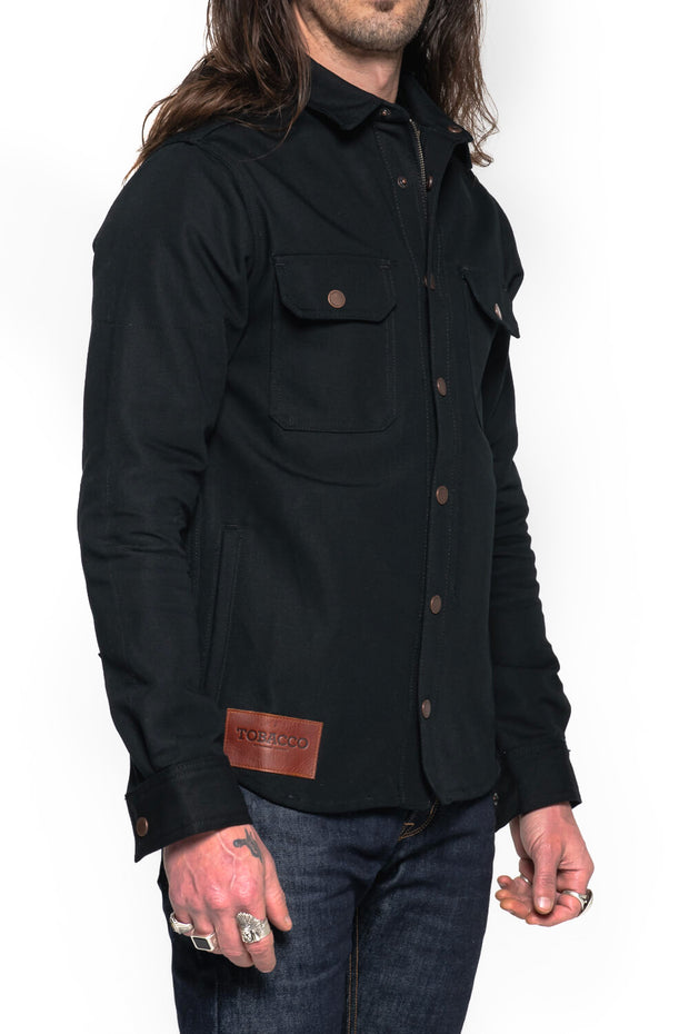 Tobacco Motorwear  California 2.0 Men's Black Cotton Canvas Motorcycle Riding Shirt Melbourne