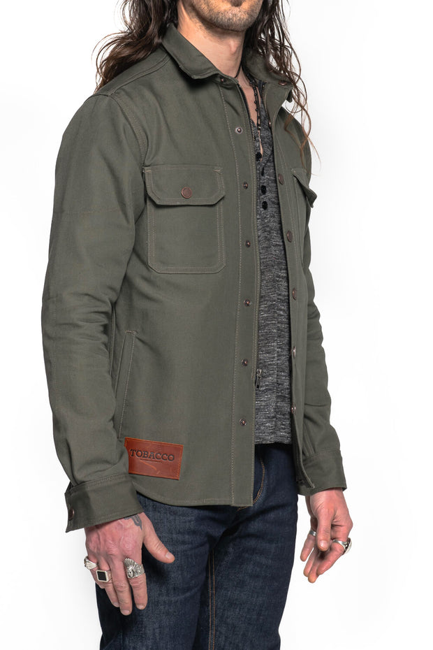 California 2.0 Men's Moss Cotton Canvas Motorcycle Riding Shirt