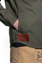 Tobacco California 2.0 Men's Moss Cotton Canvas Motorcycle Riding Shirt pockets