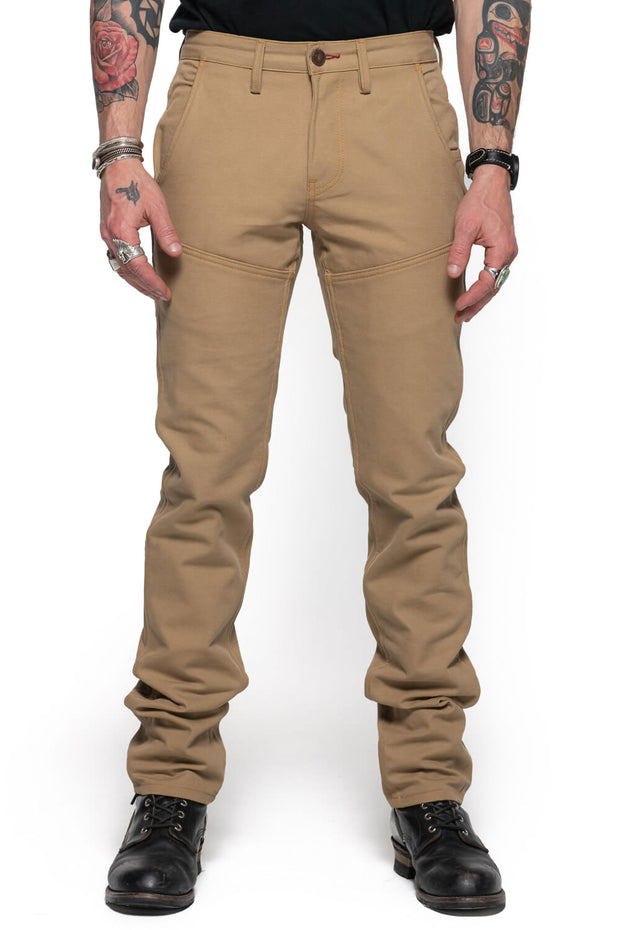 Tobacco Motorwear Company  Journeymen Men's Sand Canvas Motorcycle Pants