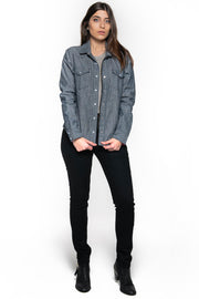 Tobacco Motorwear Company  Riveter Women's Indigo Chambray Denim Motorcycle Riding Shirt melbourne australia