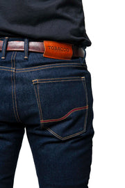Tobacco Motorwear  Ironsides Men's Raw Selvedge Kevlar Motorcycle Jeans Melbourne