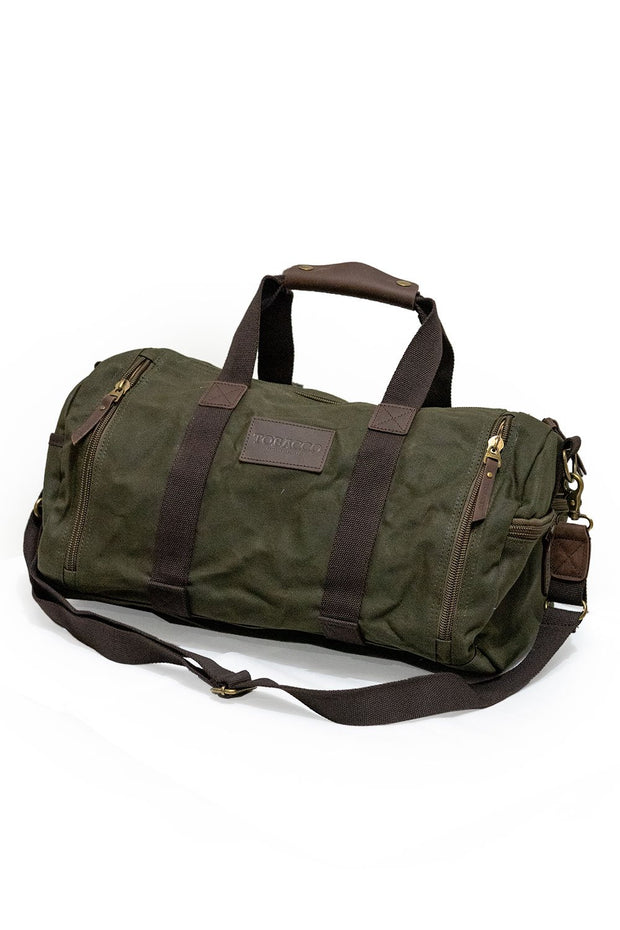 Tobacco motorwear hustle duffle canvas motorcycle bag online at Moto Est. Australia