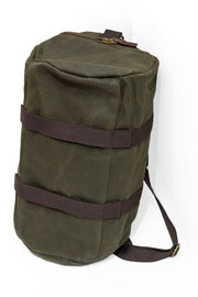 Tobacco motorwear hustle duffle canvas motorcycle sissy bar bag online at Moto Est. Australia
