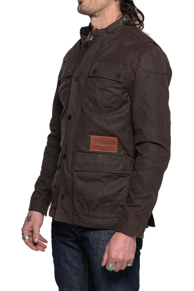 Tobacco McCoy Men's Waxed Cotton Motorcycle Jacket Moto Est. Australia 1
