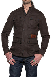 Tobacco McCoy Men's Waxed Cotton Motorcycle Jacket Moto Est. Australia
