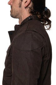 Tobacco McCoy Men's Waxed Cotton Motorcycle Jacket Moto Est. Australia 3