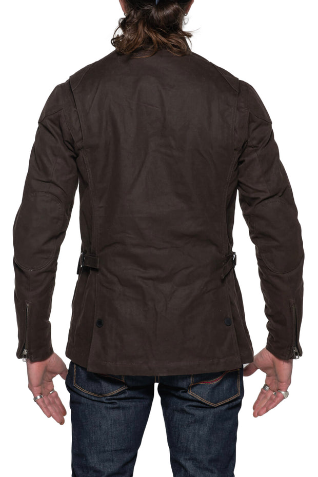 Tobacco McCoy Men's Waxed Cotton Motorcycle Jacket Moto Est. Australia 2