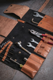 buy hand made leather tool roll for your motorcycle online at Moto Est. Australia