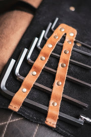 buy hand made Trip Machine leather tool roll for your motorcycle online at Moto Est.