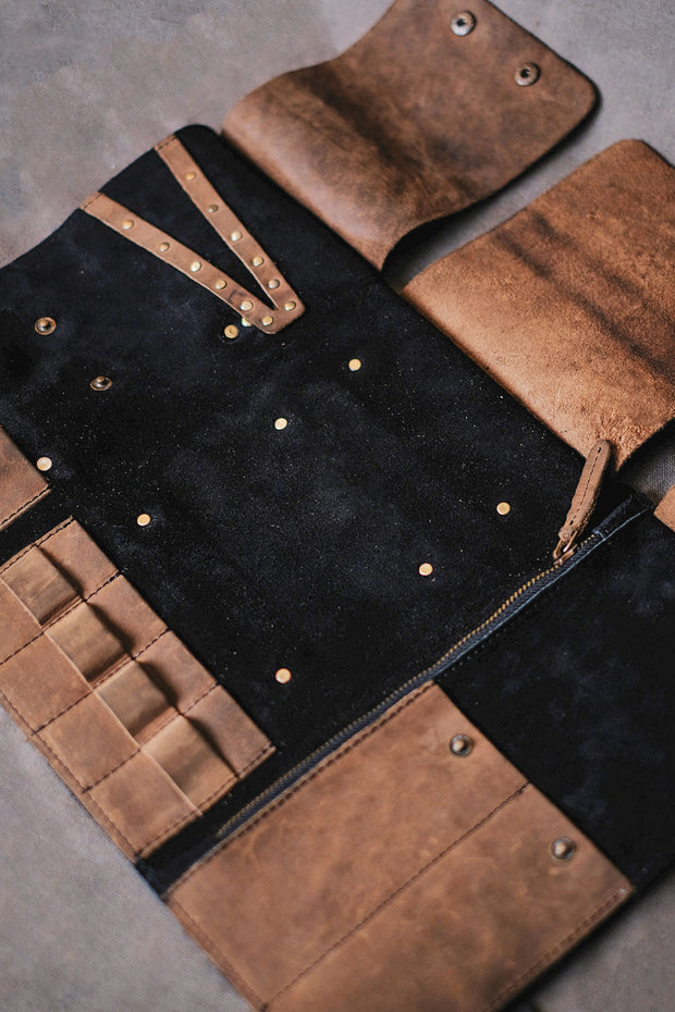 Tool Roll Black/Tobacco