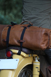 Tan Leather Duffle Bag Motorcycle Mountable Moto Est Australia