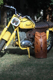 Tan Leather Duffle Bag Motorcycle Mountable Australia