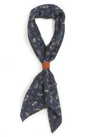 A Piece Of Chic Japanese Cotton Bandana in Navy Dragonflys online at Moto Est. Australia