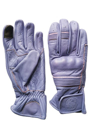 Black Arrow Moto Gear Queen Bee Lilac Purple Women's Leather Motorcycle Gloves - Moto Est.