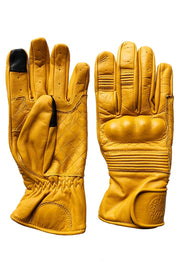 Black Arrow Moto Gear Queen Bee Saffron Yellow Women's Leather Motorcycle Gloves - Moto Est.