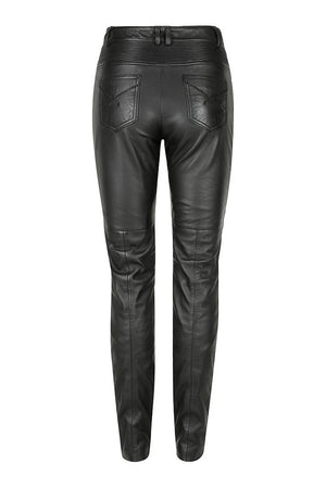 Belle Noir Women's Leather Motorcycle Pants