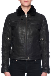 Black Arrow Label Night Hawk Women's Nubuck Leather Motorcycle Jacket online at Moto Est. Australia