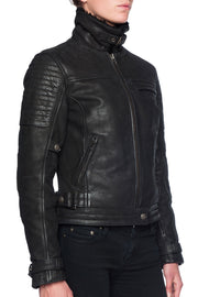 Buy the night hawk nubuck leather jacket online at Moto Est. Australia 3