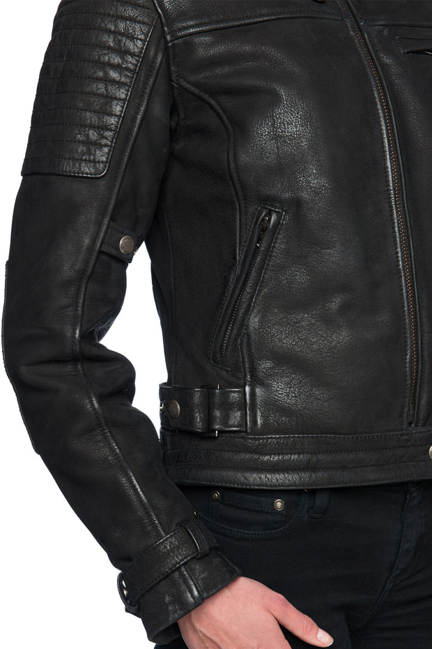 Buy the night hawk nubuck leather jacket online at Moto Est. Australia 5
