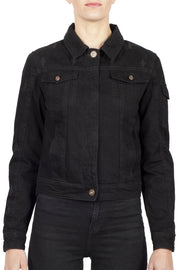 Black Arrow Label Nowhere Bound Women's Denim Motorcycle Jacket online at Moto Est. Australia