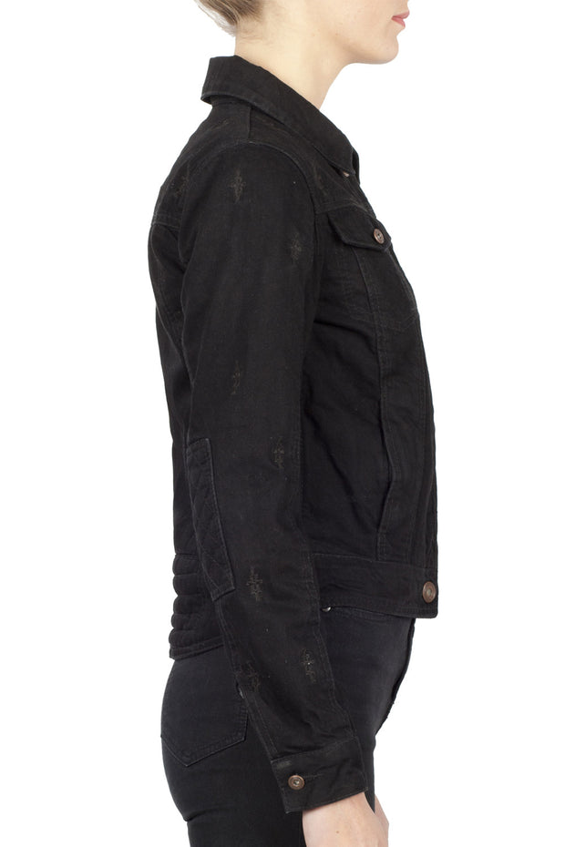 Buy the nowhere bound denim jacket black online at Moto Est. Australia 3