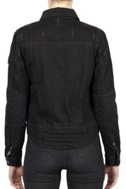 Buy the nowhere bound denim jacket black online at Moto Est. Australia