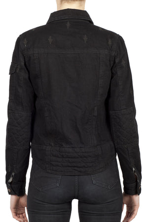 Nowhere Bound Women's Denim Motorcycle Jacket